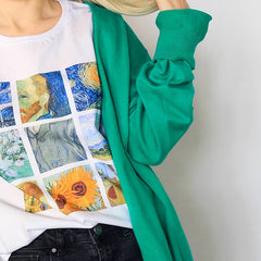 van gogh t-shirt tee shirt painting aesthetic art tumblr soft grunge fashion blog outfit boogzel apparel