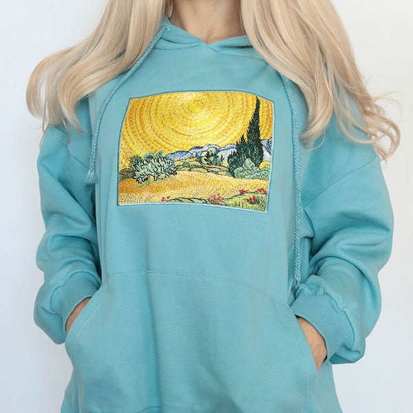 Wheat Field with Cypresses Hoodie
