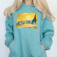 Wheat Field with Cypresses Hoodie boogzel apparel