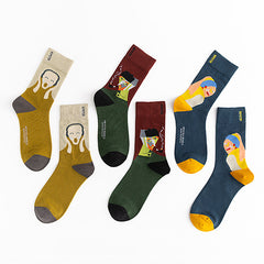 The Scream Munch Socks