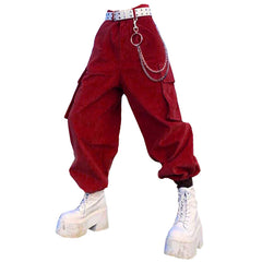 Vine Red Cargo Pants