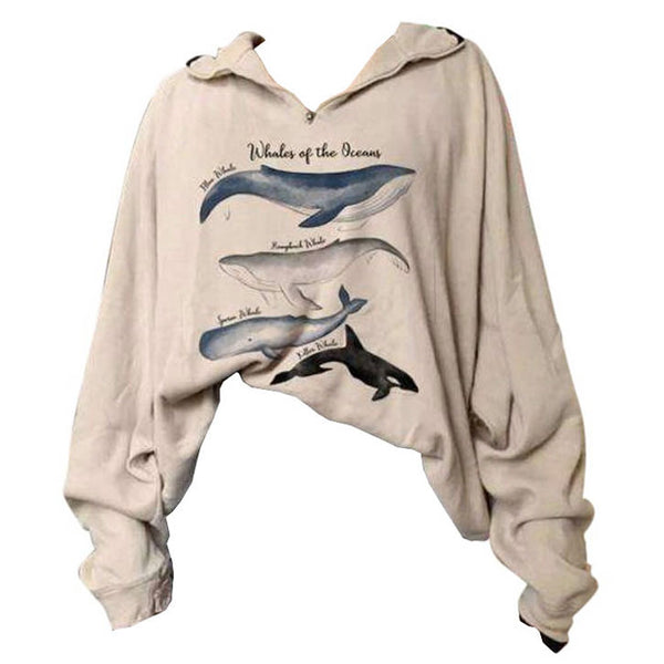 Whale Zip Up Sweatshirt
