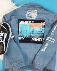 """Where is my mind"" Denim Jacket boogzel apparel"