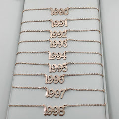 year of birth necklace buy shop