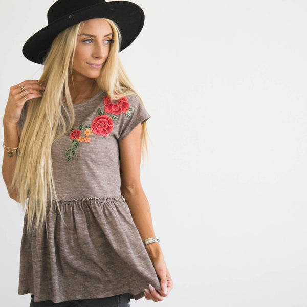 S & Co. Flower Patch Top