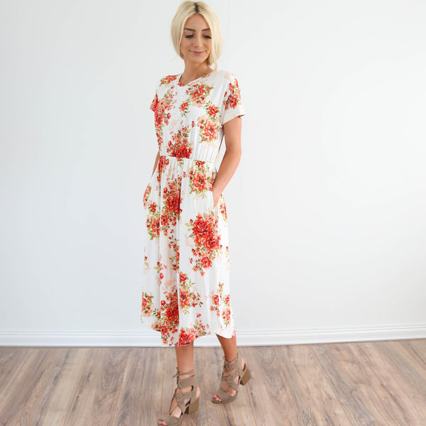 Scarlett Floral Pocket Dress