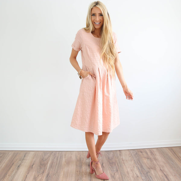 Scarlette Spring Dress in Blush