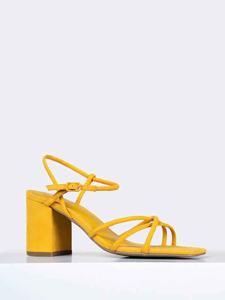 Strappy Square Toe Heel