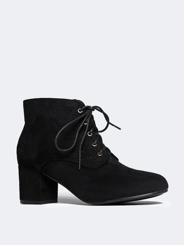 Block Heel Ankle Boot