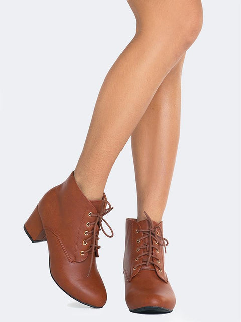 Lace Up Ankle Bootie