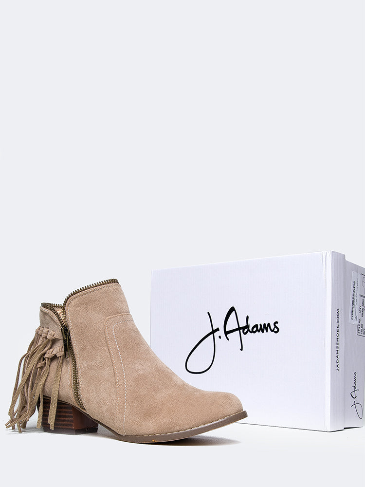 Low Heel Fringe Ankle Boot