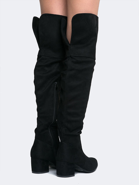 49956aeaf3b Low Heel Over The Knee Boot – J Adams