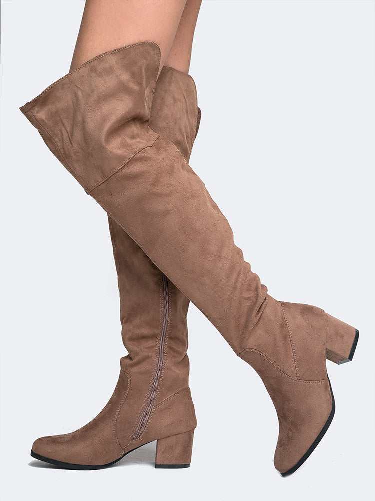 Low Heel Over The Knee Boot