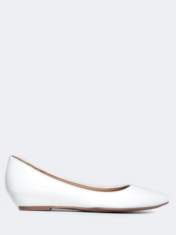 Low Wedge Pointed Toe Flat