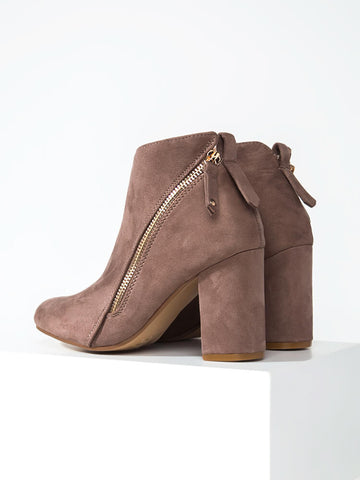 Zip Up Bootie