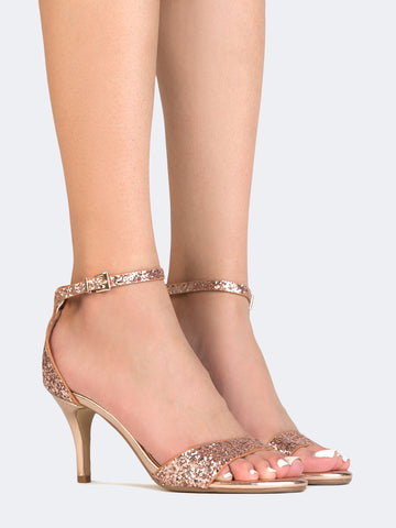 Low Ankle Strap Heel