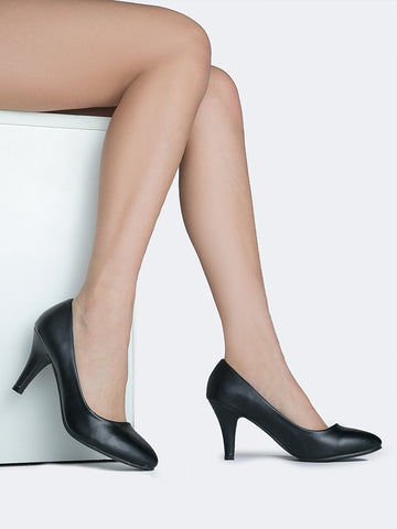 Low Heel Round Toe Pump