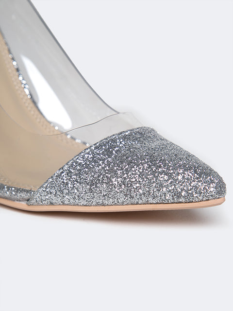 Clear Pointed Toe Pumps