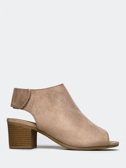 Peep Toe Ankle Boot
