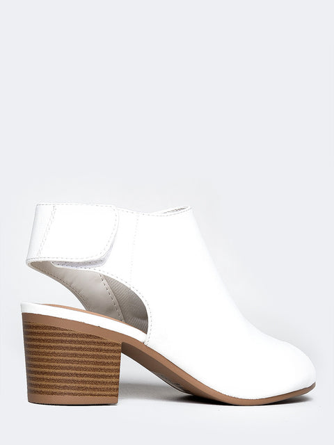 Peep Toe Low Heel Ankle Bootie