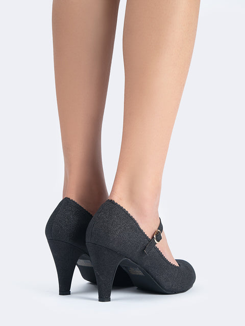 Mary Jane Kitten Heels
