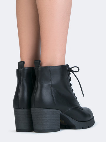 Lace Up Combat Booties