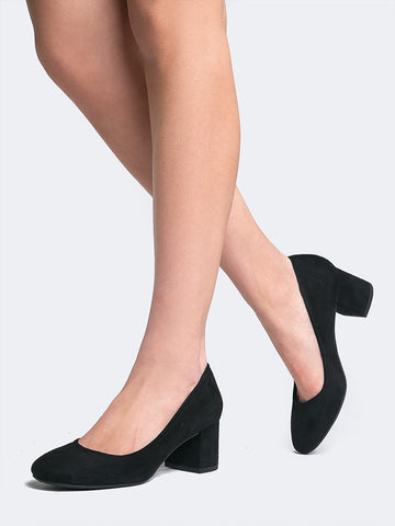 Low Block Heel Pump