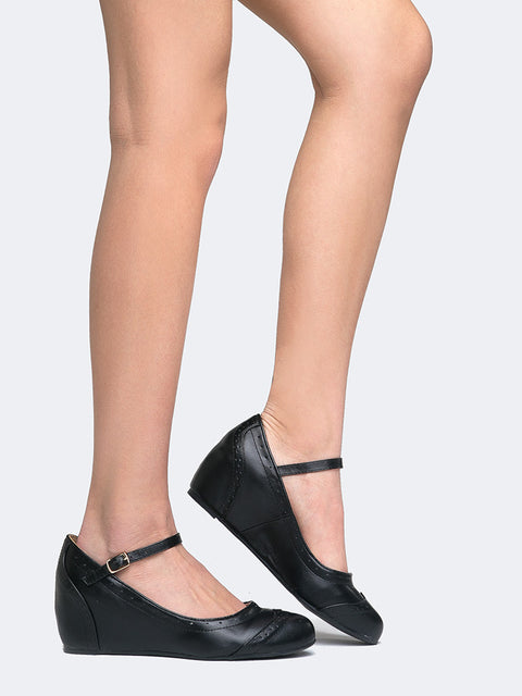 Mary Jane Ankle Wedge