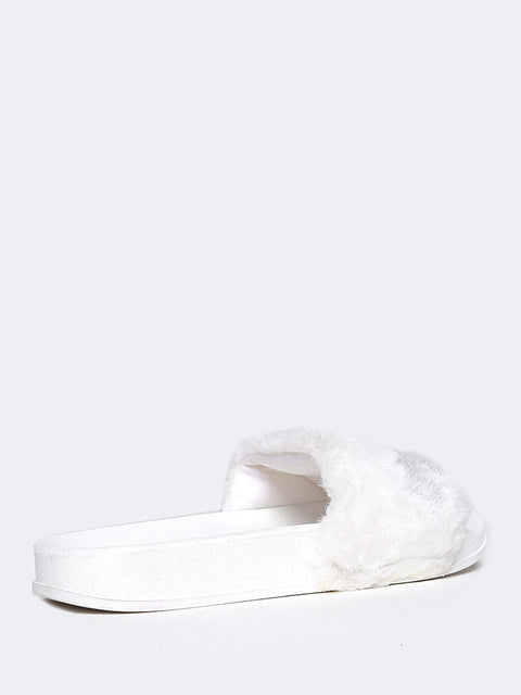 Monzi Furry Slide Sandal