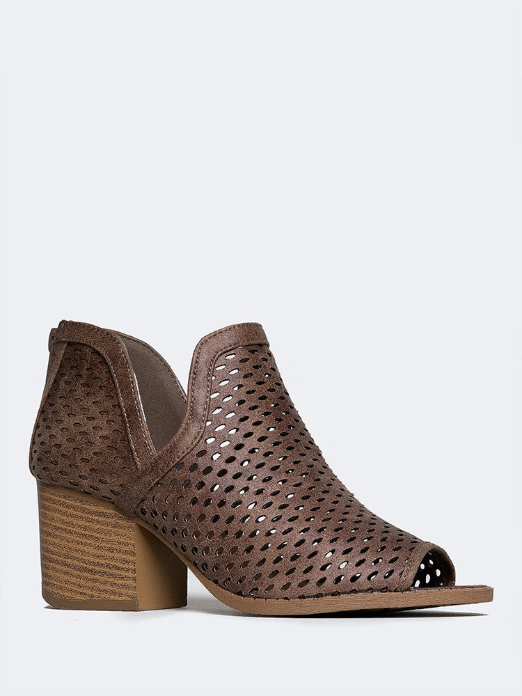 Cut Out Perforated Bootie