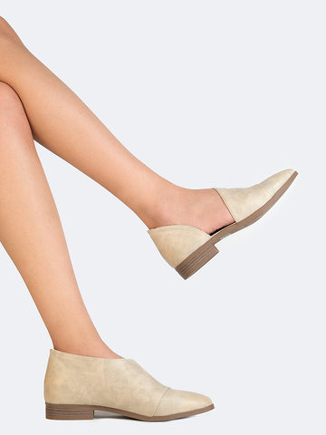 Pointed Toe Open Side Flat