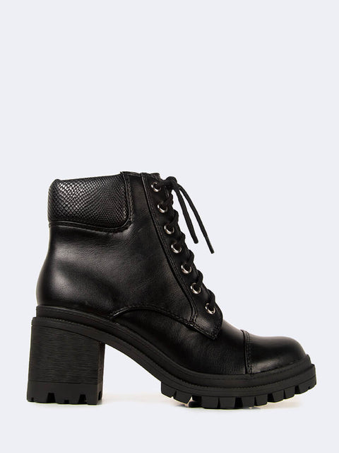 Zip-Up Chunky Heel Fashion Ankle Boots