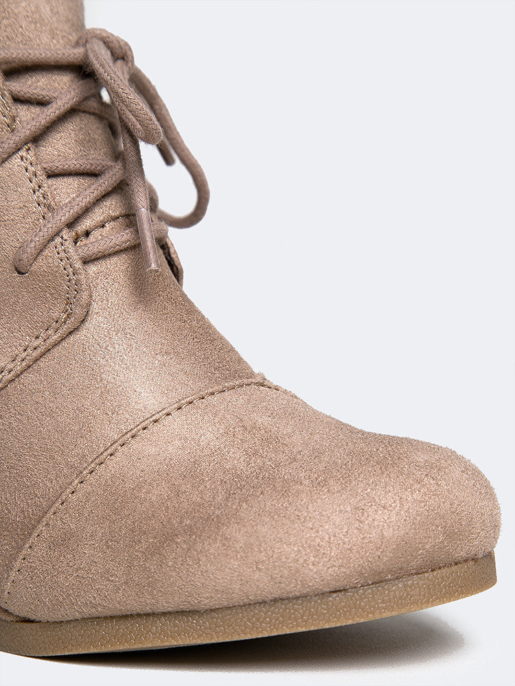 Oxford Wedge Lace-Up Bootie