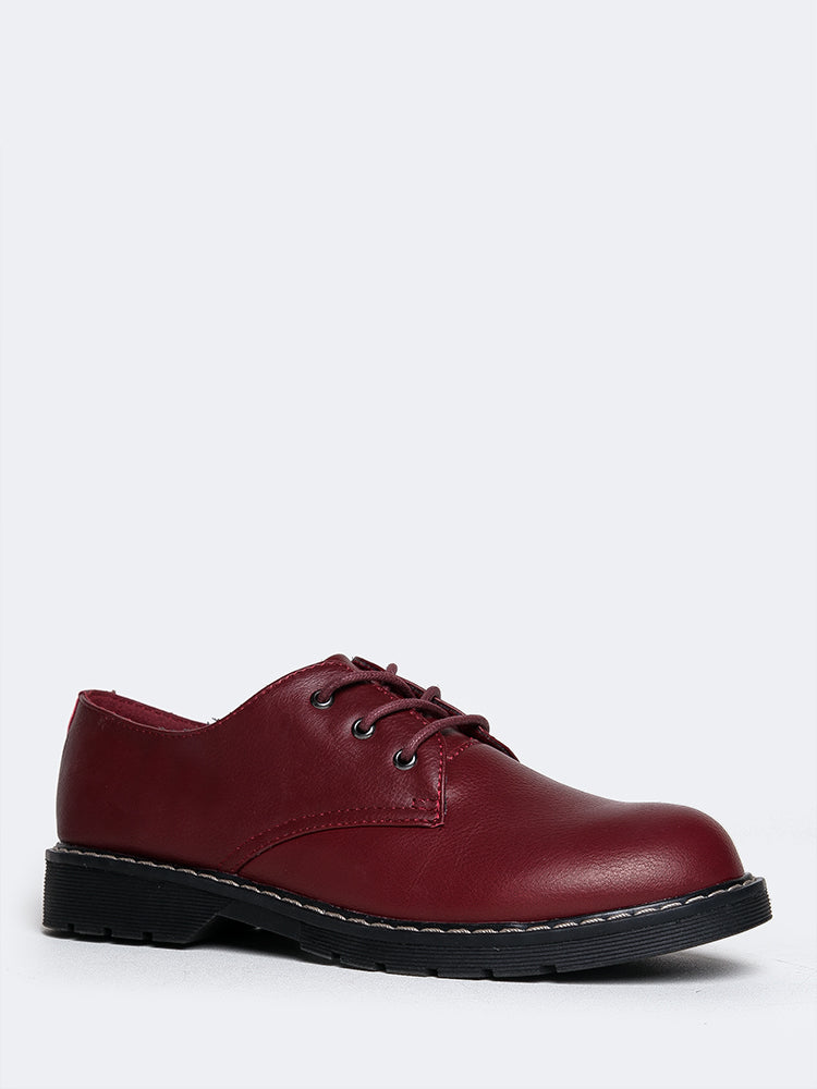 Lace Up Oxford Flat