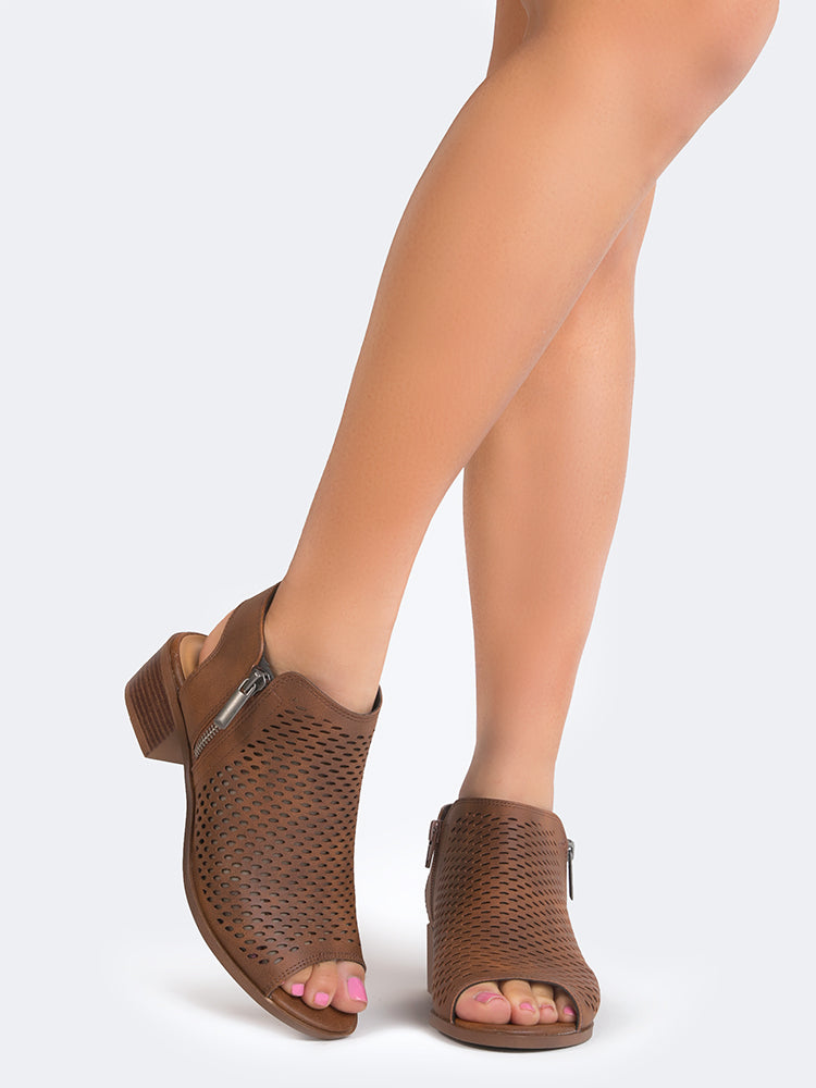 Perforated Low Bootie