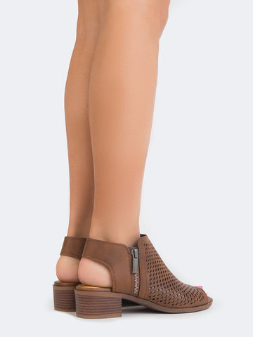 Perforated Flat Bootie