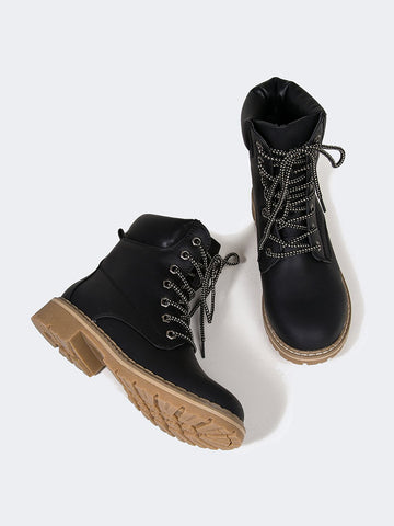 Lace Up Utility Boots