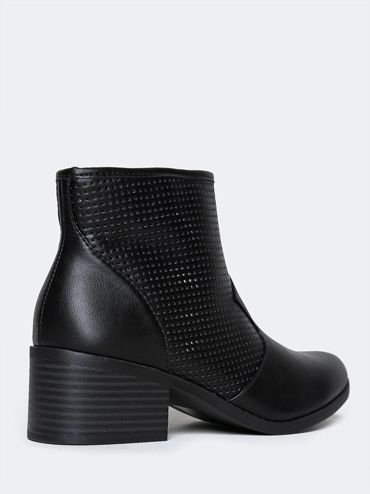 Low Heel Western Mesh Boot