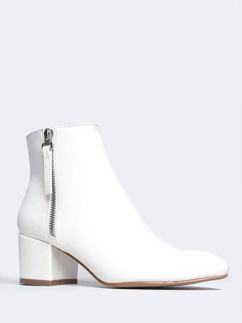 Side Zip Heeled Ankle Boot