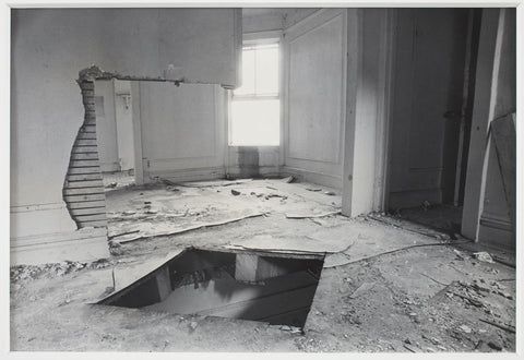 Picture: Gordon Matta-Clark, Bronx Floor: Floor Hole, 1972. Courtesy of the Estate of Gordon Matta-Clark and David Zwirner.