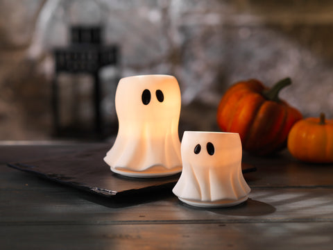 GLOWING GHOST LARGE VOTIVE HOLDER - Candle Co Winchester