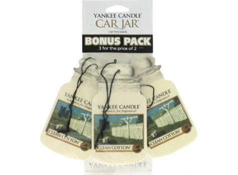 Car Jar 3 Pack Clean Cotton - Candle Co Winchester