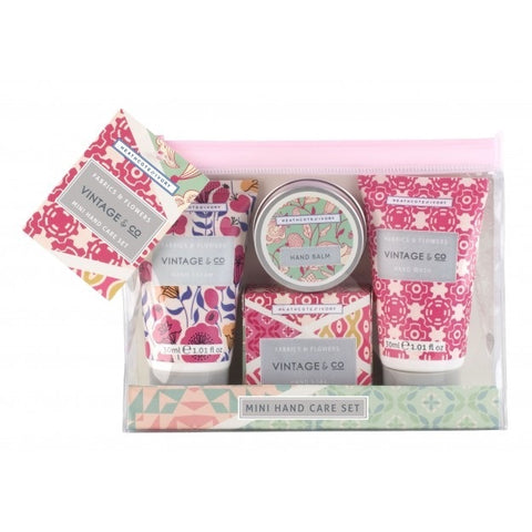 Vintage & Co mini hand care set fabric and flowers