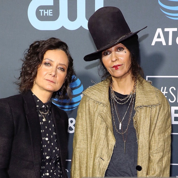 The American singer-songwriter, musician & record producer Linda Perry wears Marco Dal Maso