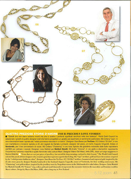 Marco Dal Maso jewellery featured in L'ORAFO ITALIANO magazine