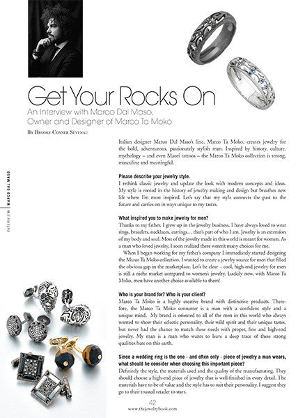Marco Dal Maso jewellery featured in THE JEWELRY BOOK magazine