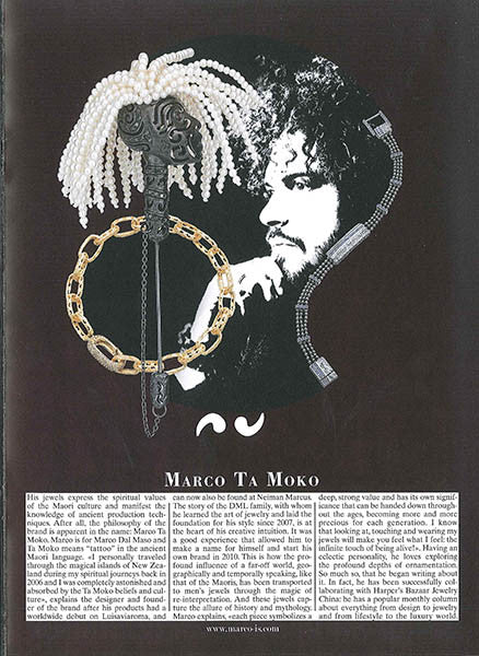 Marco Dal Maso jewellery featured in VOGUE GIOIELLO magazine THE PROTAGONIST insert