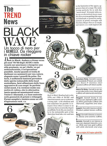Marco Dal Maso jewellery featured in VOGUE GIOIELLO magazine