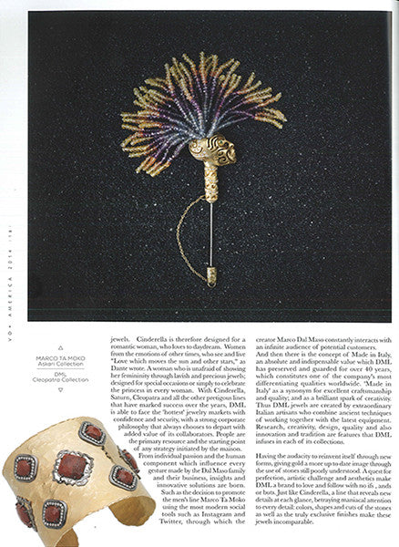 Marco Dal Maso jewellery featured in VO+ AMERICA magazine