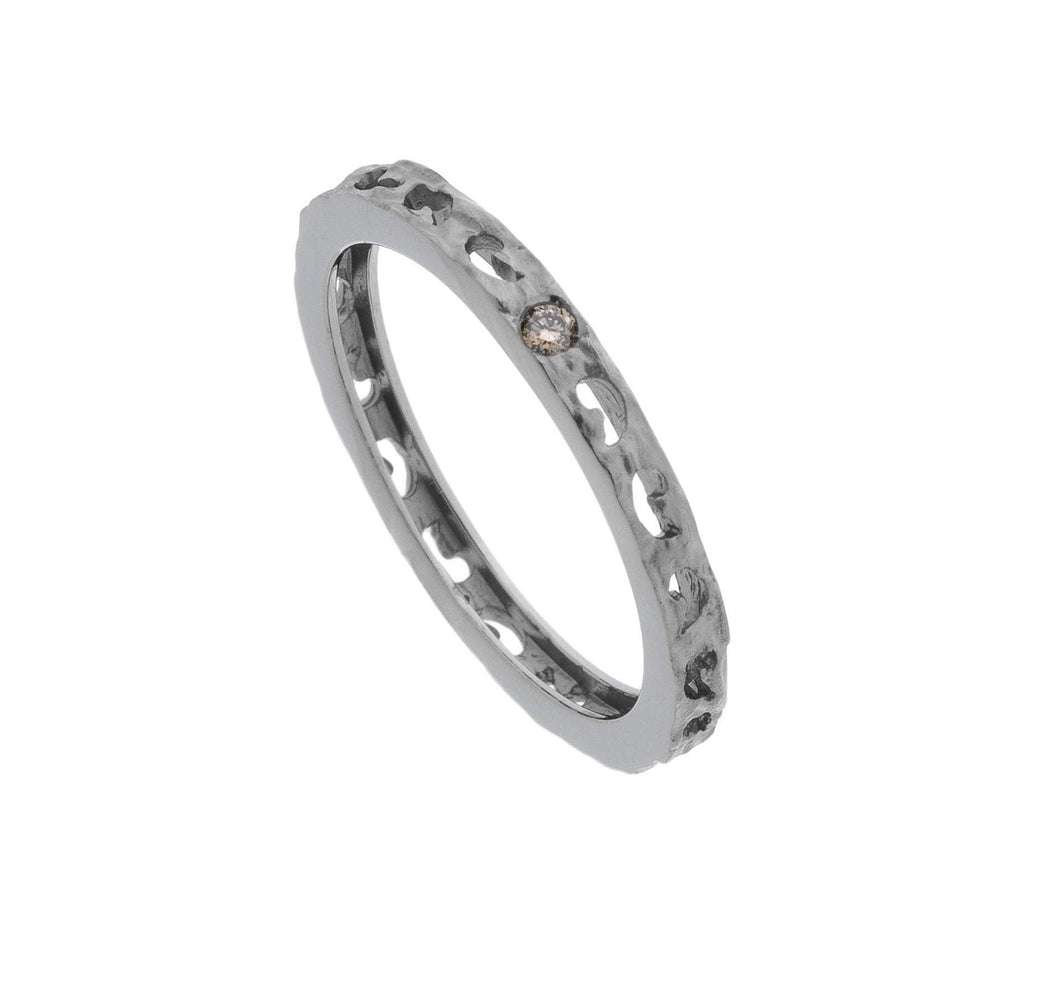 Loop Moon Single Diamond Ring